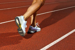 Running on a track - dynamic image Royalty Free Stock Images
