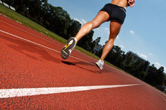 Running on a track - dynamic image Stock Images