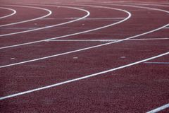 Running track. Empty sports arena royalty free stock photography