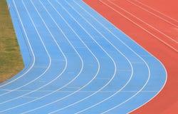 Running track field sports stadium. Running track field at sports stadium Royalty Free Stock Image