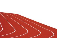 Running Track Isolated. Five Running tracks, isolated on white Royalty Free Stock Photos