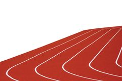 Running Track Isolated Right. Five Running tracks, isolated on white Stock Photography