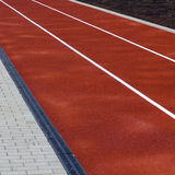 Running track lanes Royalty Free Stock Photography