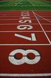 Running track lanes Royalty Free Stock Images