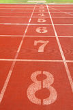 Running track lanes for athletes Royalty Free Stock Photography