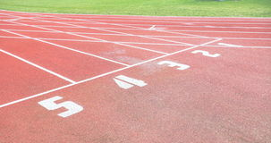 Running track with lanes , 4k view stock video footage