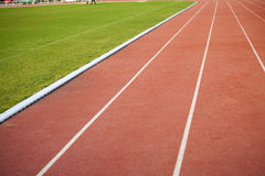 Running track lanes Royalty Free Stock Image