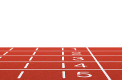 Running track. With layout on white background Royalty Free Stock Photography
