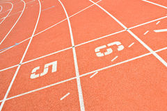 Running track lines Royalty Free Stock Photos