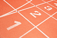 Running track lines Royalty Free Stock Images
