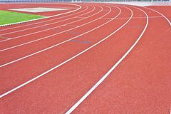 Running track lines. Curve of running track lines stock photography