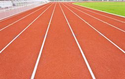 Running track lines. Curve of running track lines stock images