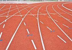 Running track lines. Curve of running track lines royalty free stock images