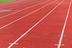 Running track lines. Running track with lanes outdoor Stock Photography