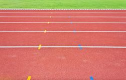 Running track lines Royalty Free Stock Image