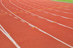 Running track lines Stock Image