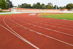 Running track lines Stock Images