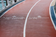 Jogging Track on Ship Stock Image