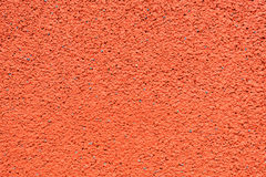 Running track made from red granule rubber Stock Photo