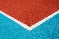 Running track made from red granule rubber Stock Images