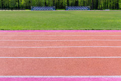 Running track with marking Stock Image