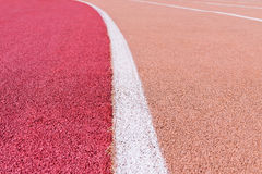 Running track with marking Stock Photos