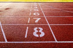 Running track  in the morning. Stock Image