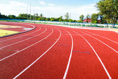 Running track  in the morning. Stock Images