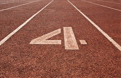Running track number 4 Royalty Free Stock Image
