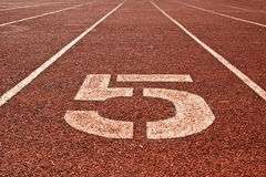 Running Track Number 5 Stock Photography