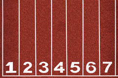 Running track with number 1-7, abstract, texture, background. Royalty Free Stock Images