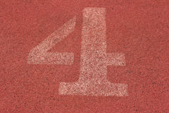 Running track number - for the athletes.  Royalty Free Stock Photos