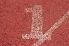 Running track number - for the athletes.  Stock Photos