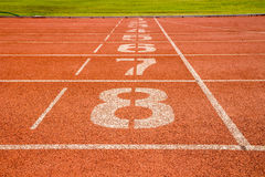 Running track with number Stock Photography
