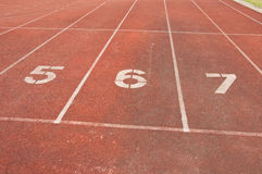 Running track number eight Stock Images