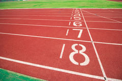 Running track with number Royalty Free Stock Image