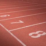 Running track number Royalty Free Stock Photography