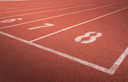 Running track number Royalty Free Stock Photos