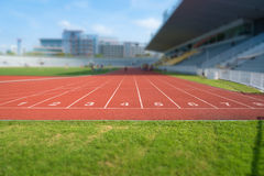 Running track number Stock Image
