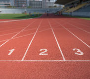 Running track number Royalty Free Stock Image