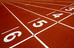 Running track. Number on start Running track Stock Photography