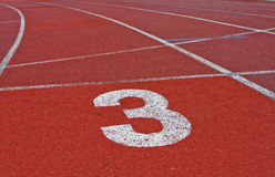 Running track numbers Royalty Free Stock Photos
