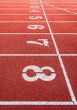 Running track numbers Stock Photography