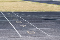Running track numbers Royalty Free Stock Photography