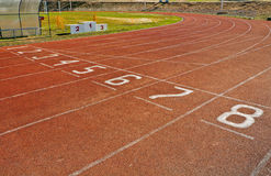Running track numbers on a start Royalty Free Stock Image