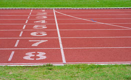 Running Track Of A Sports Stock Image