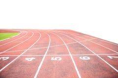 Running track in outdoor stadium Stock Photography