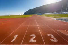Running track outdoors Royalty Free Stock Photography