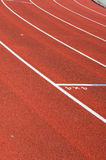 Running track. Red oval running track outside Royalty Free Stock Photography