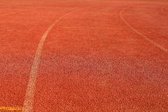Running track rubber cover. The Running track rubber cover Stock Photo